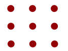 9 dot puzzle matrix